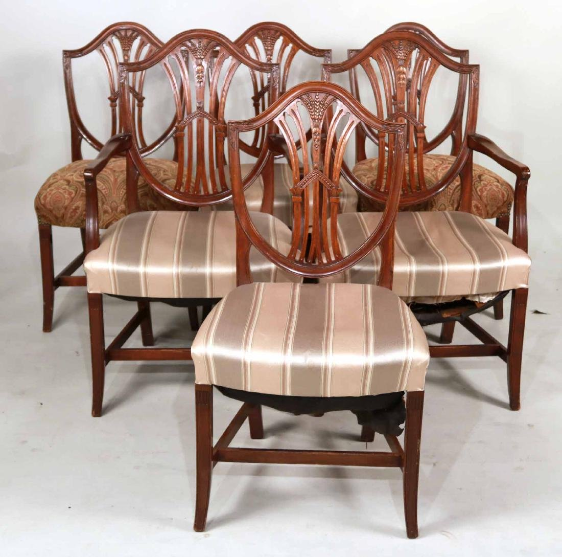 Six Federal Style Mahogany Dining Chairs