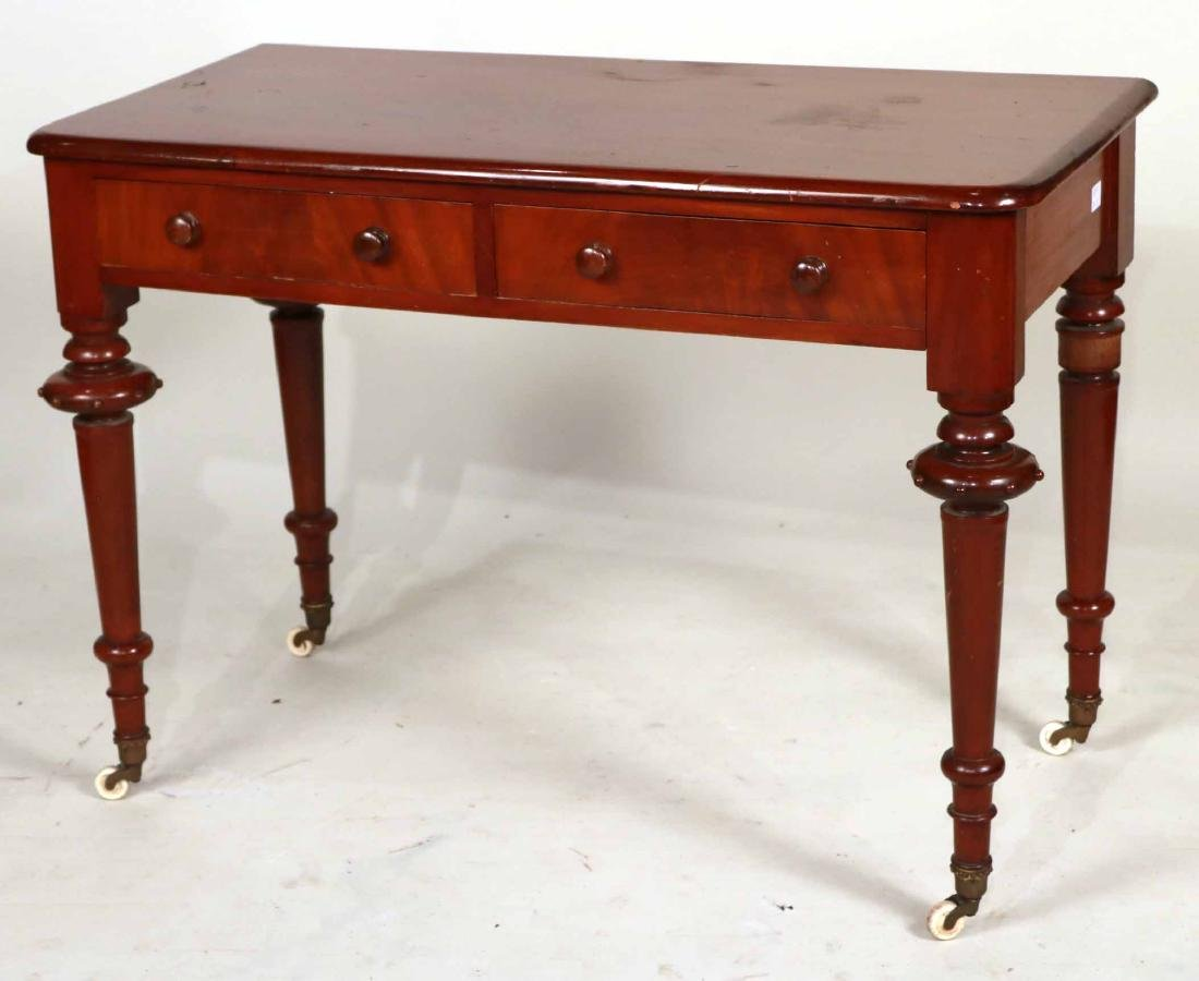 Victorian Mahogany Two-Drawer Pier Table