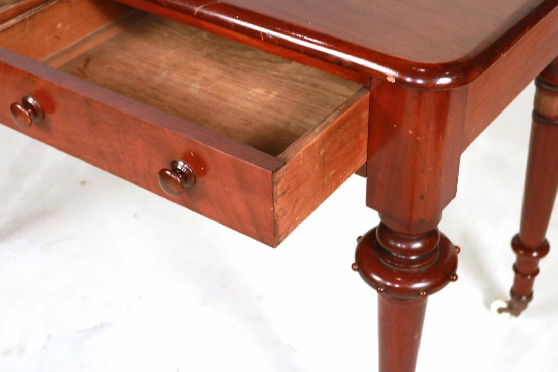 Victorian Mahogany Two-Drawer Pier Table - 5