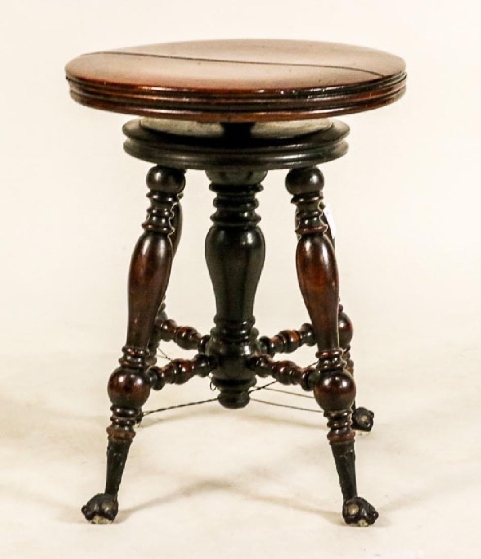 Victorian Adjustable Piano Stool