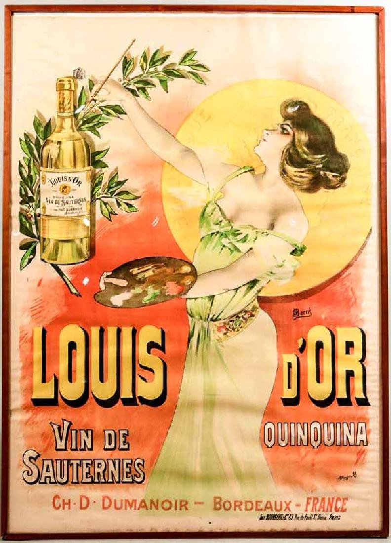 "Art Deco Lithograph Poster, ""Louis d'OR"""