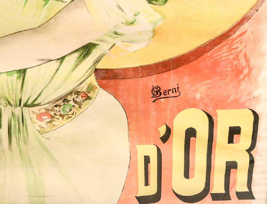 "Art Deco Lithograph Poster, ""Louis d'OR"" - 2"