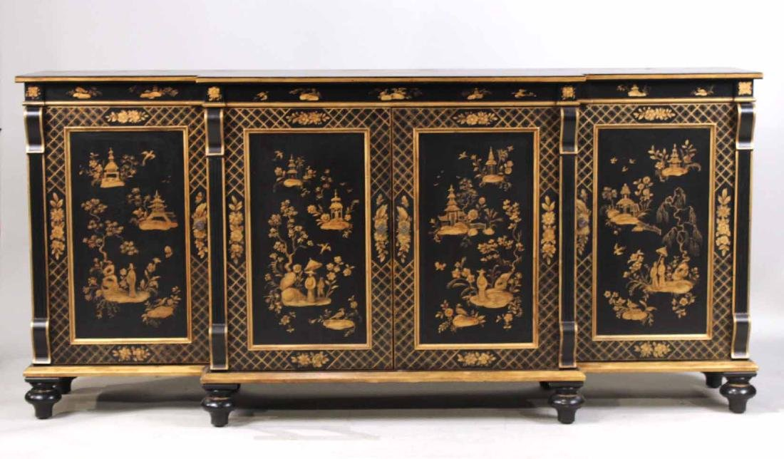 Chinoiserie-Decorated Breakfront Low Chest