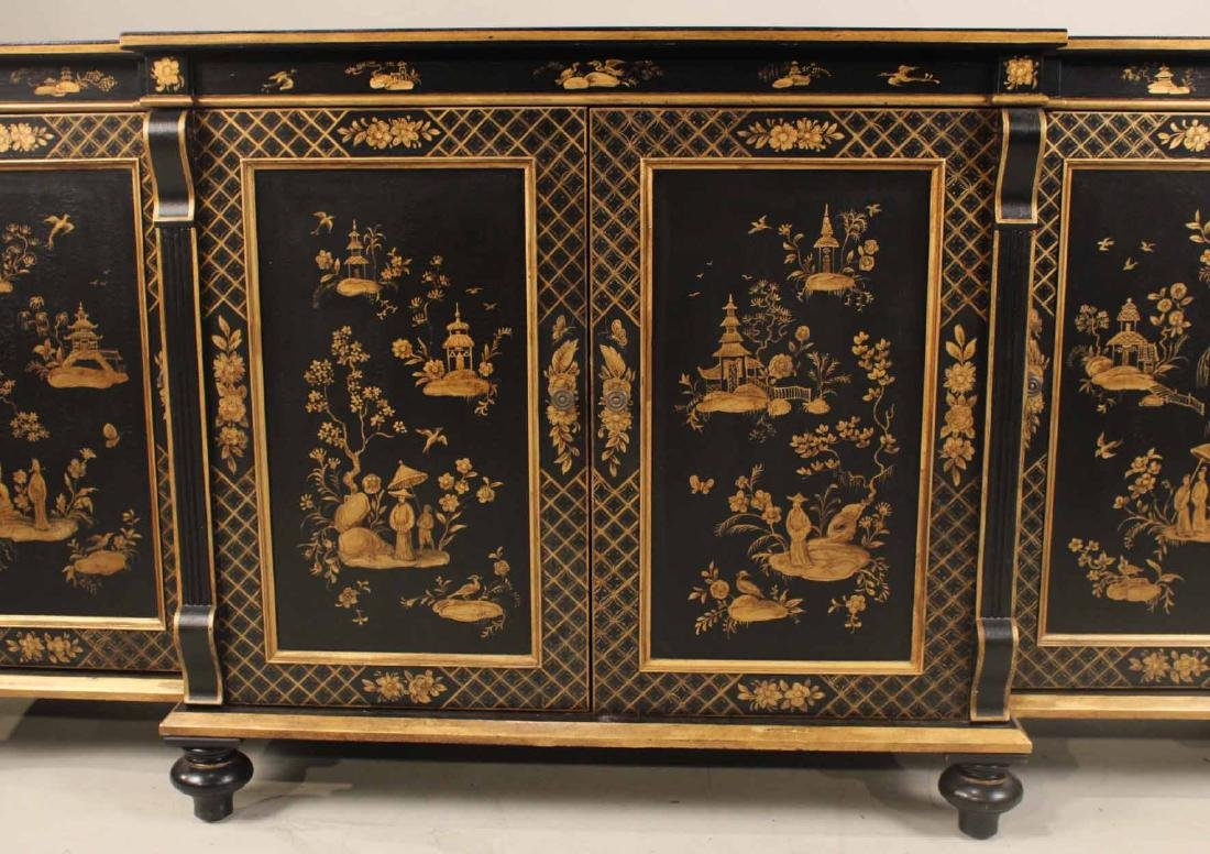 Chinoiserie-Decorated Breakfront Low Chest - 5