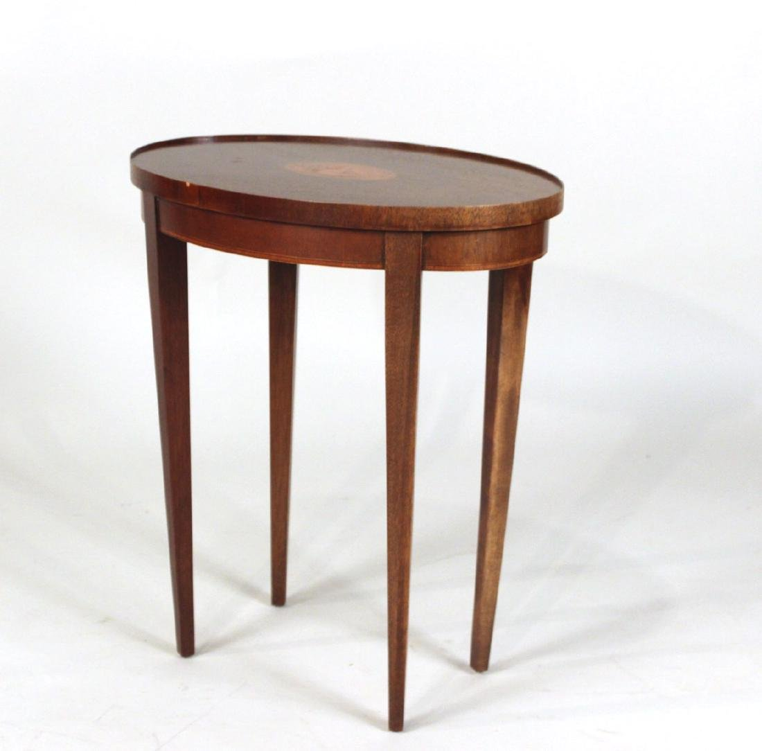 Baker Federal Style Inlaid Side Table