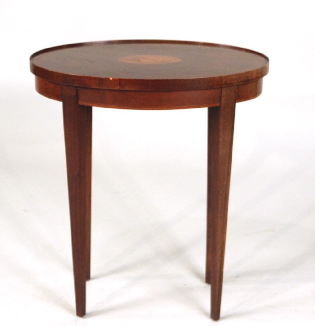 Baker Federal Style Inlaid Side Table - 2