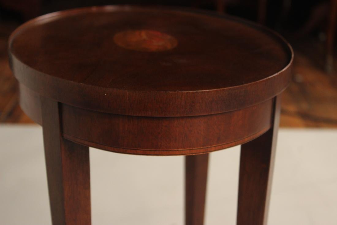 Baker Federal Style Inlaid Side Table - 4