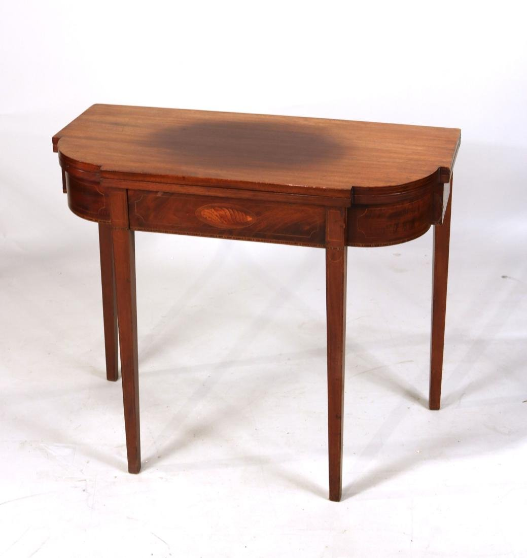 Federal Style Inlaid Mahogany Gate-Leg Card Table