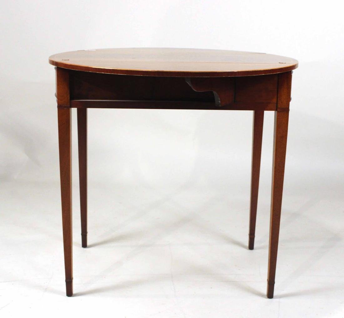 Federal Style Inlaid Mahogany Pembroke Table - 4