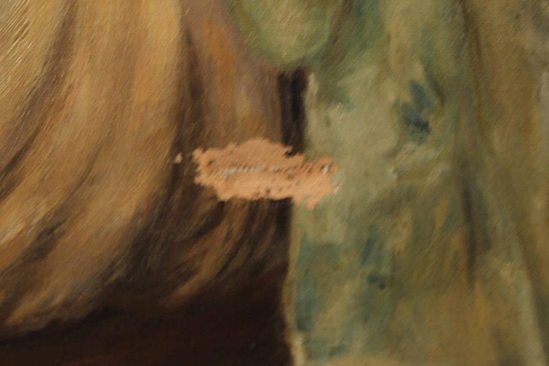 Oil on Canvas, Portrait of Seated Girl - 5