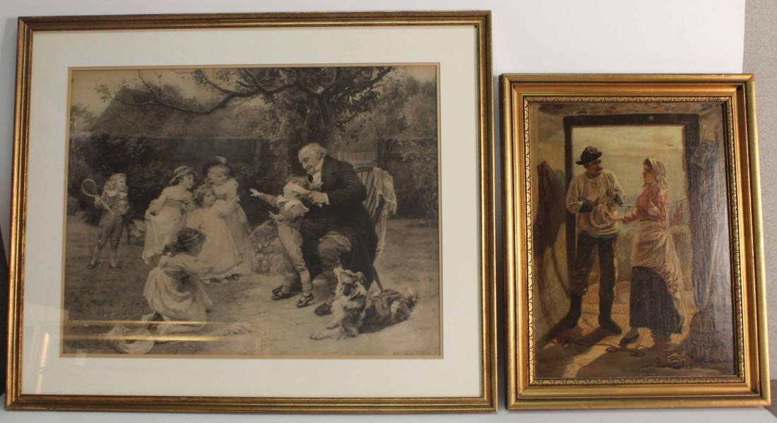 Enhanced Giclee of Two Figures in Doorway