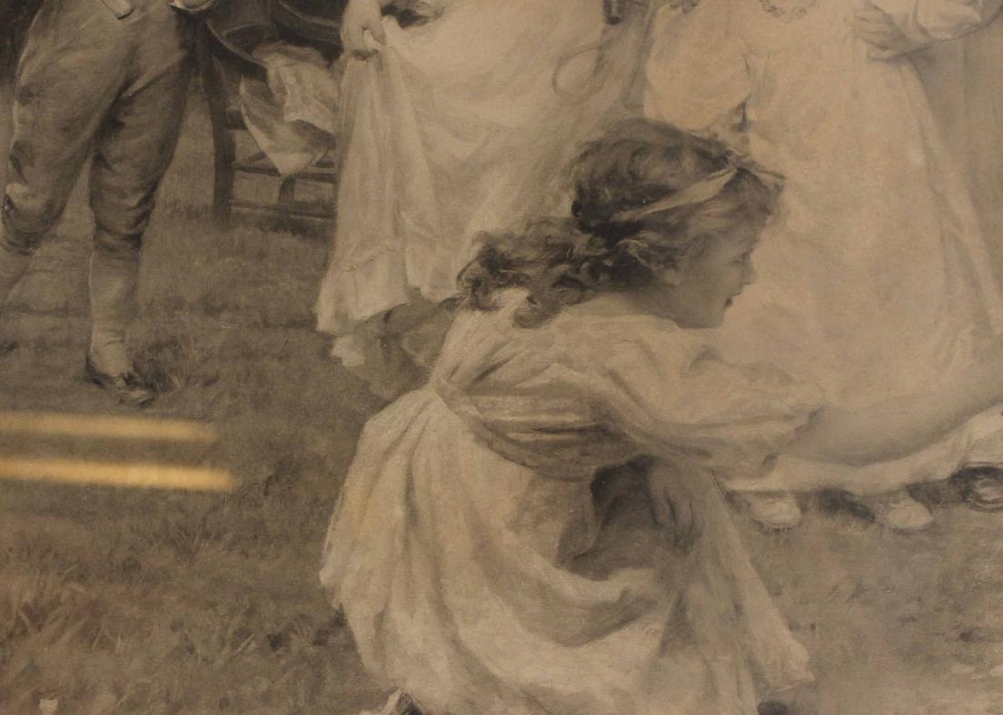 Enhanced Giclee of Two Figures in Doorway - 6