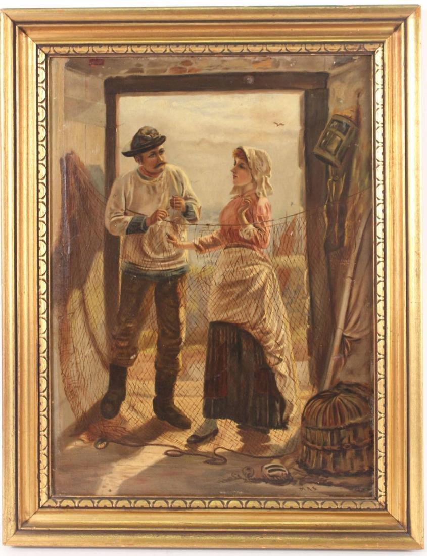 Enhanced Giclee of Two Figures in Doorway - 7