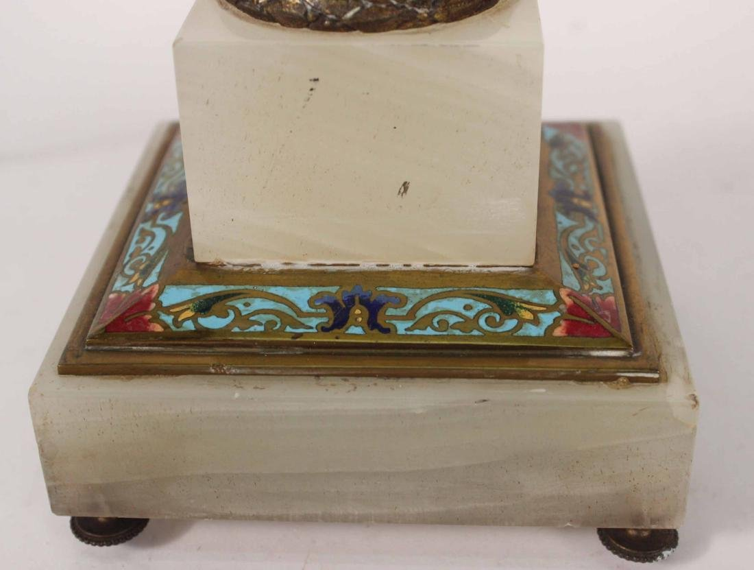 Cloisonne and Alabaster Table Lamp - 4
