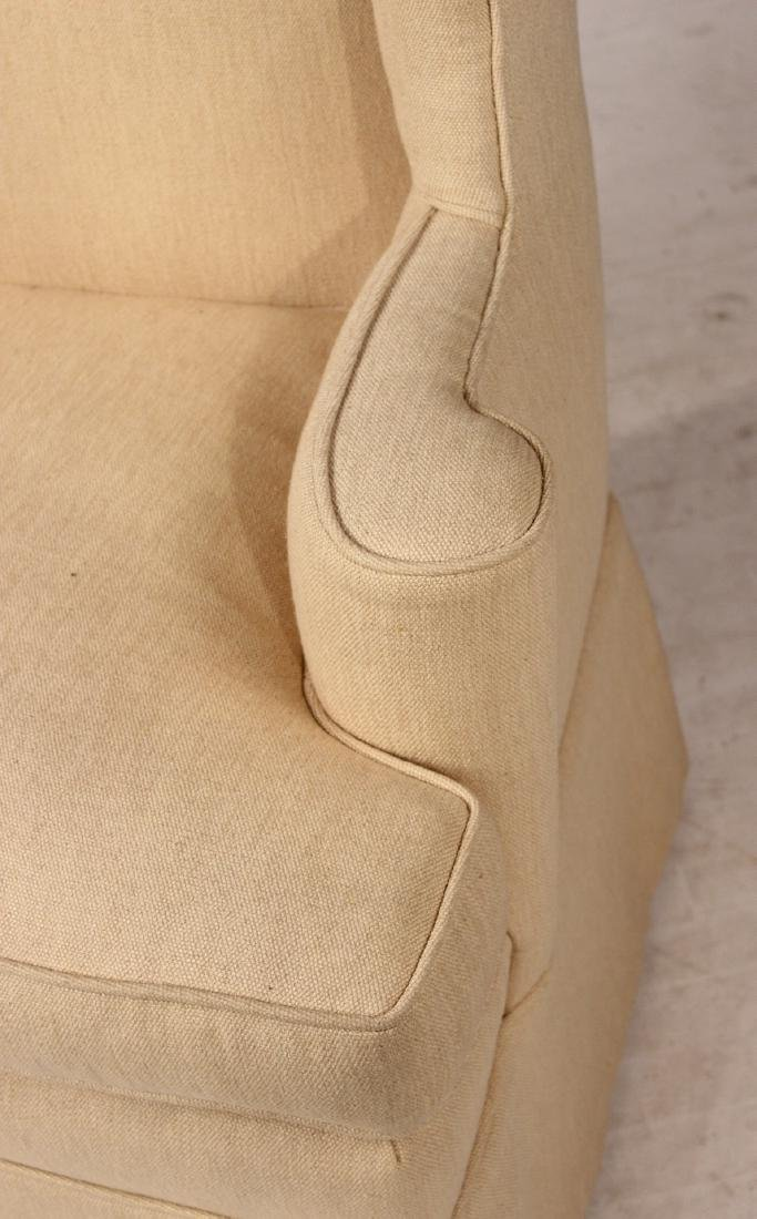 Chippendale Style Upholstered Wing Back Chair - 2