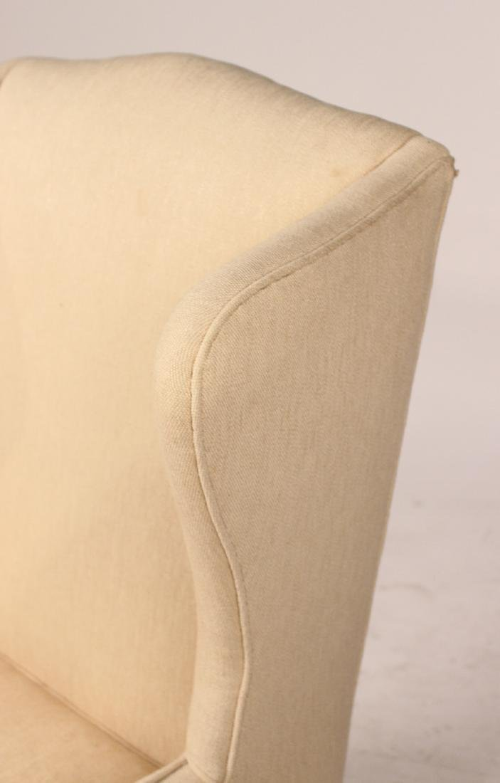 Chippendale Style Upholstered Wing Back Chair - 3