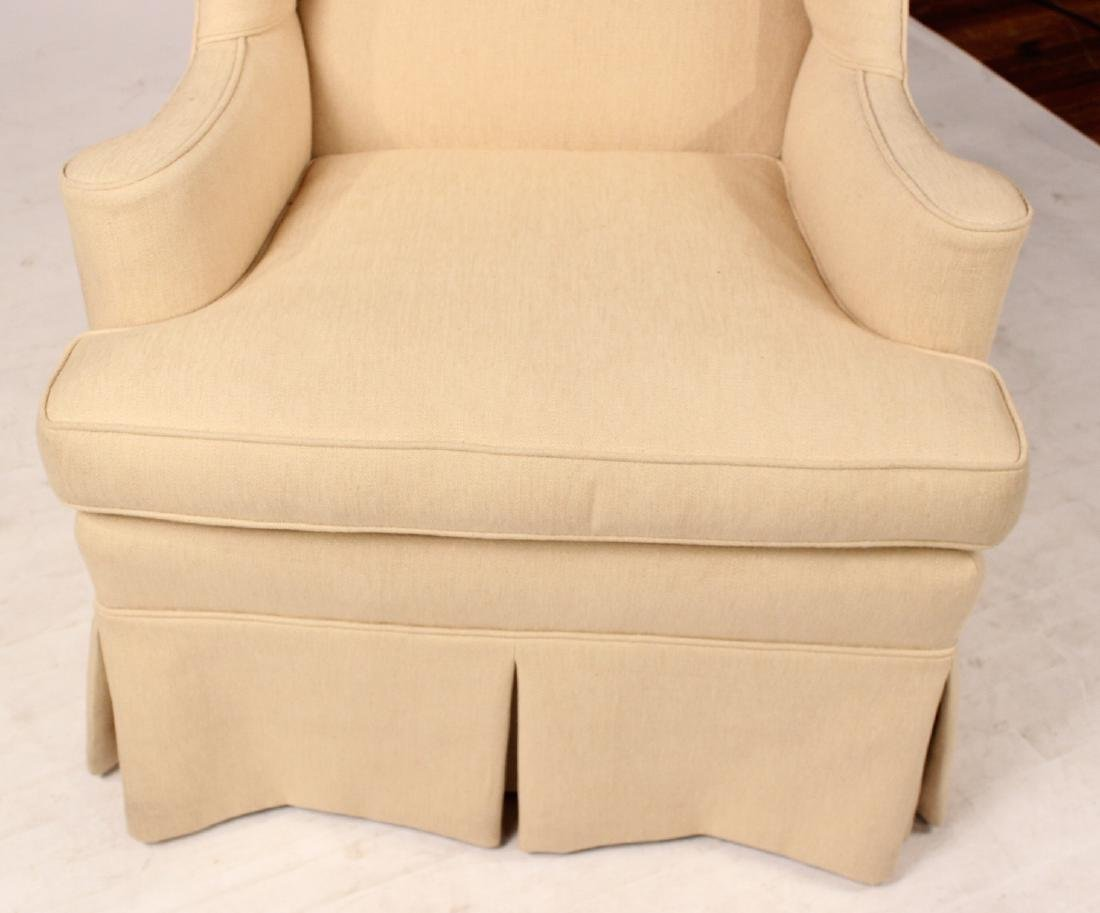 Chippendale Style Upholstered Wing Back Chair - 4