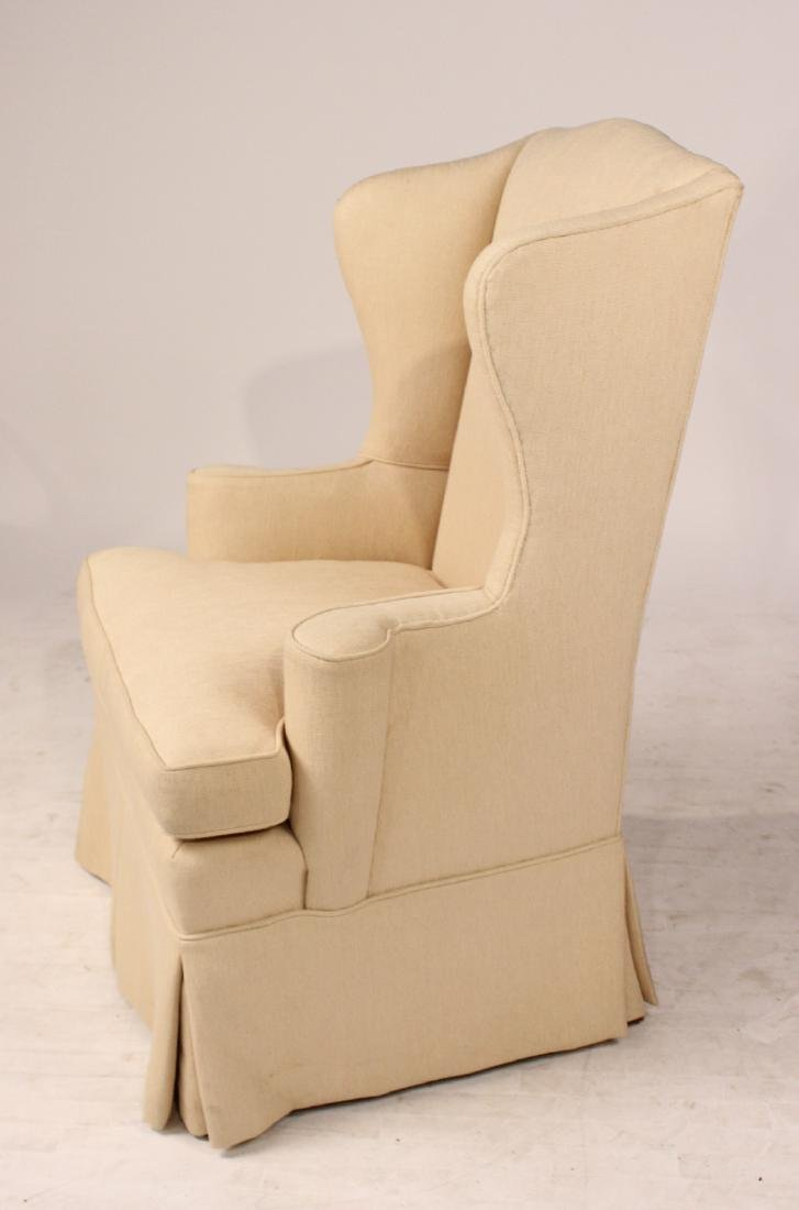 Chippendale Style Upholstered Wing Back Chair - 5