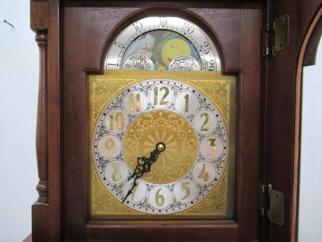 Cherrywood Grandfather's Clock - 3