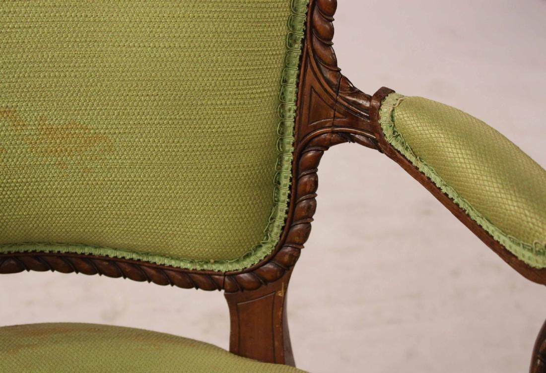 George III Style Mahogany Open Armchair - 3