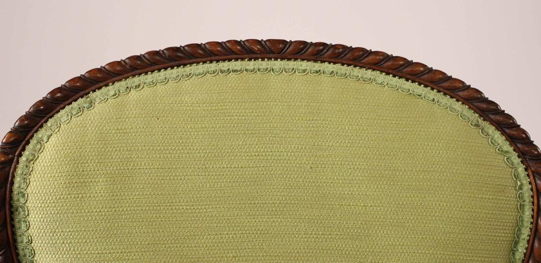 George III Style Mahogany Open Armchair - 4