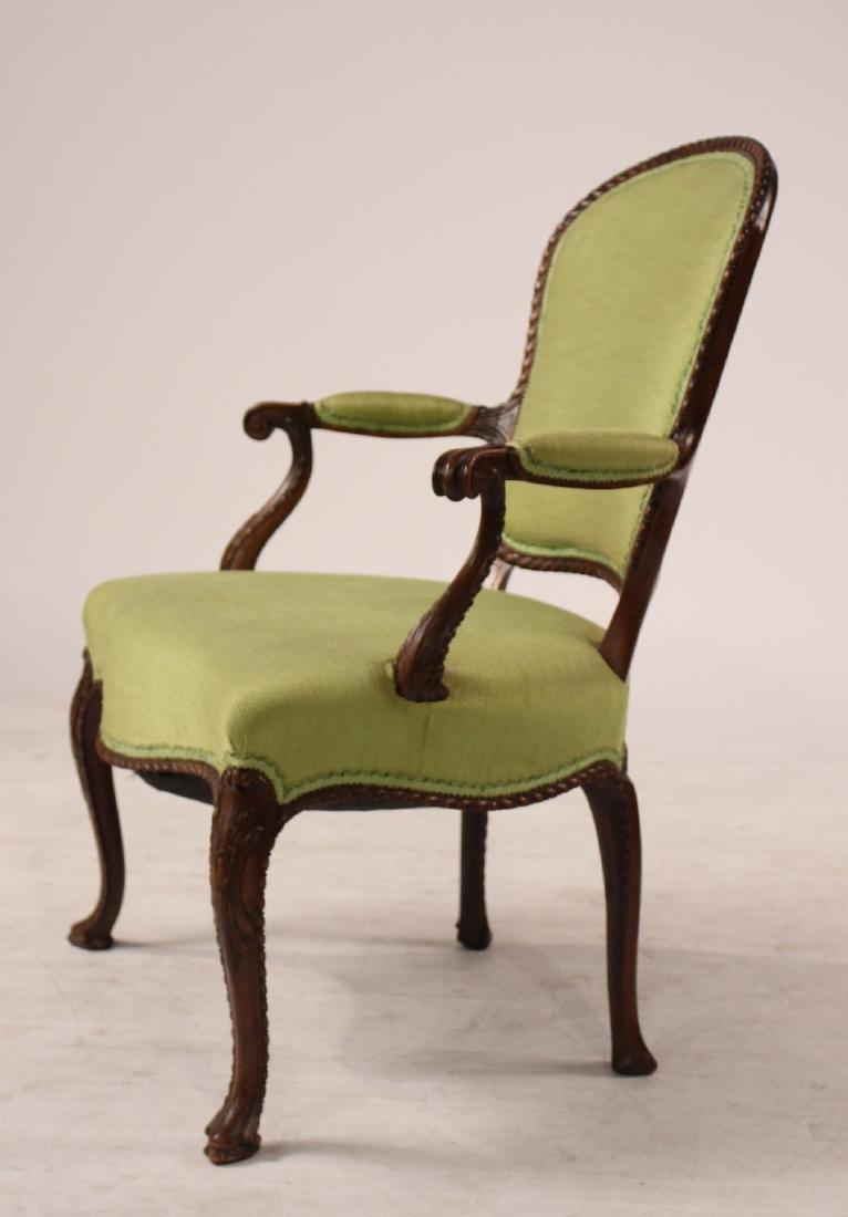 George III Style Mahogany Open Armchair - 6