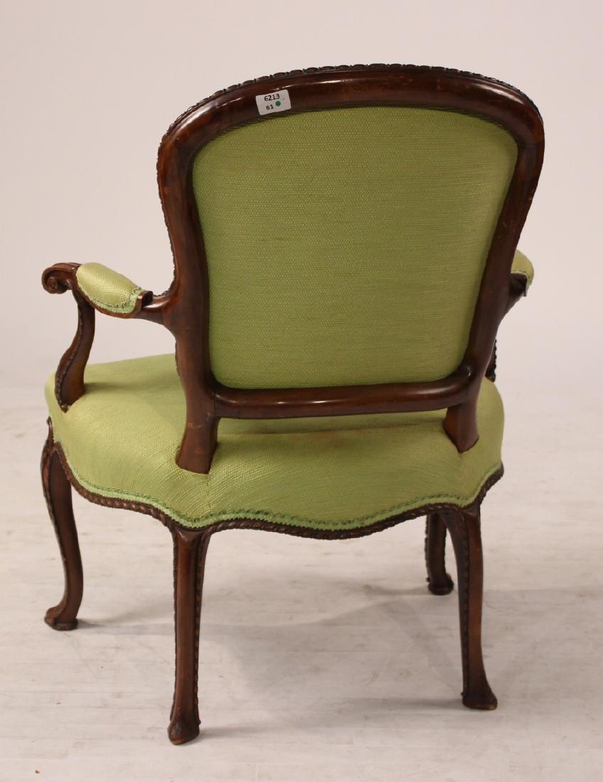 George III Style Mahogany Open Armchair - 7