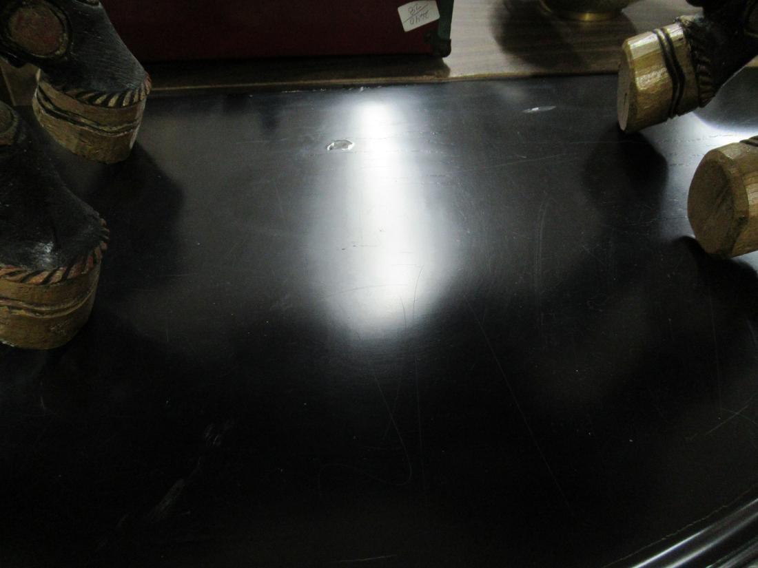 Pair of Contemporary Black Demi-Lune Pier Tables - 2