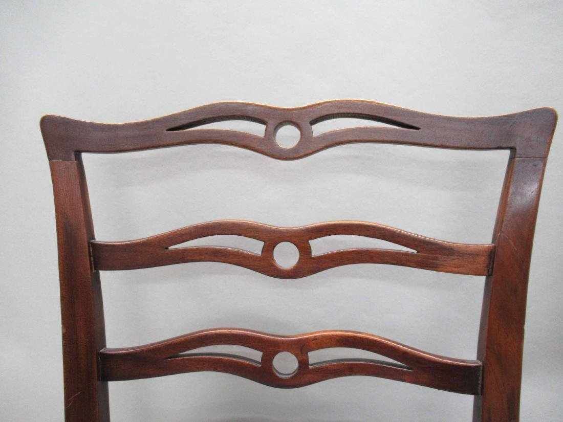 Pair of Chippendale Style Mahogany Side Chairs - 2