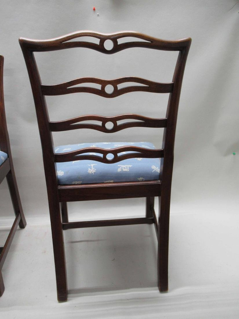 Pair of Chippendale Style Mahogany Side Chairs - 5