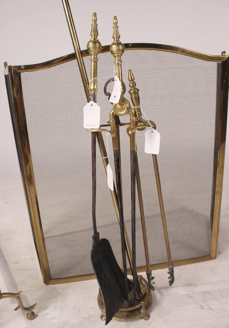 Pair of Federal Cast-Brass Andirons - 3