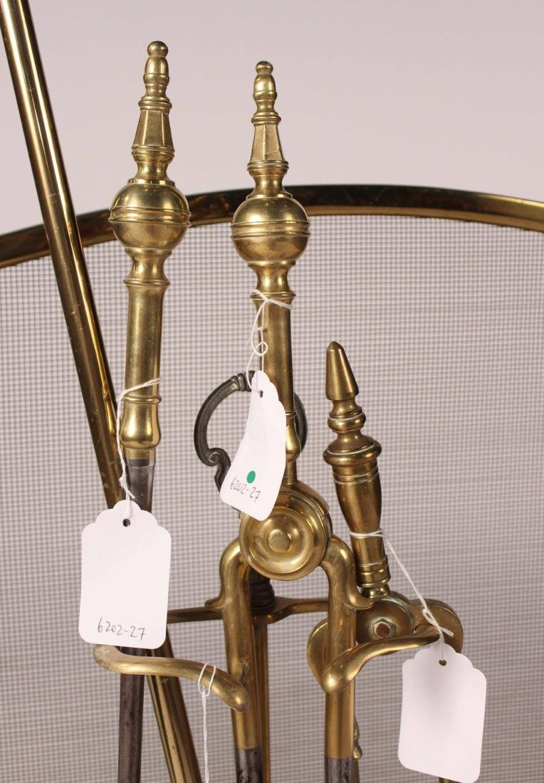 Pair of Federal Cast-Brass Andirons - 4