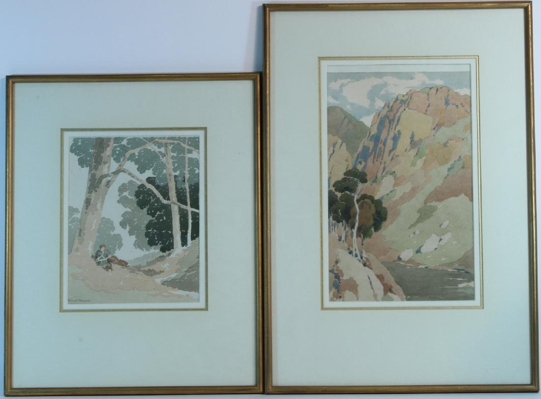 Two Watercolors on Paper, H. Lionel Froomis