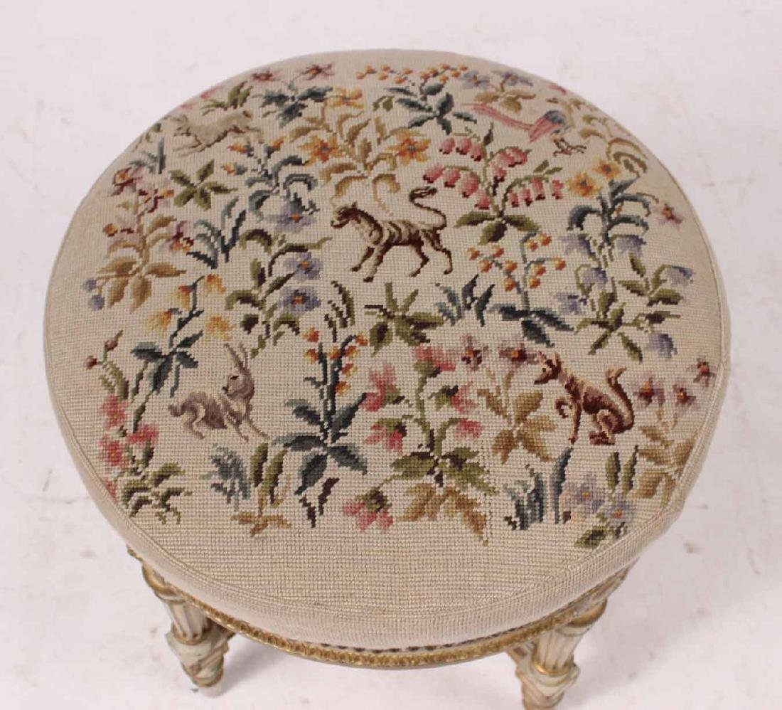 Louis XVI Style Parcel-Gilt and Painted Stool - 2