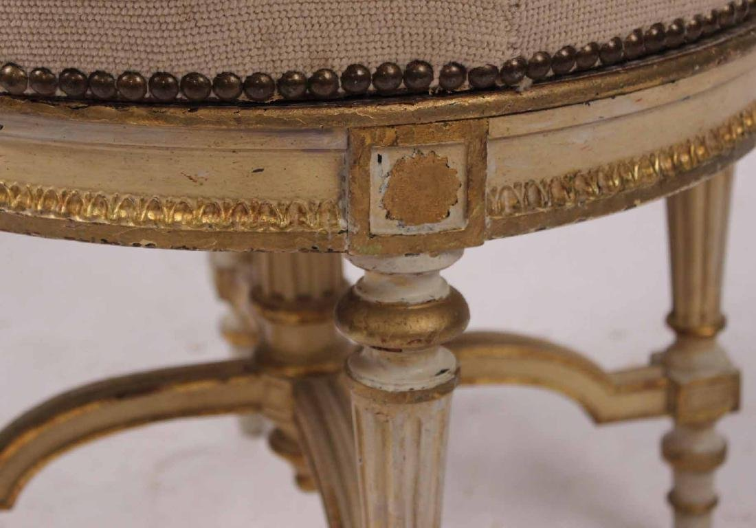 Louis XVI Style Parcel-Gilt and Painted Stool - 3