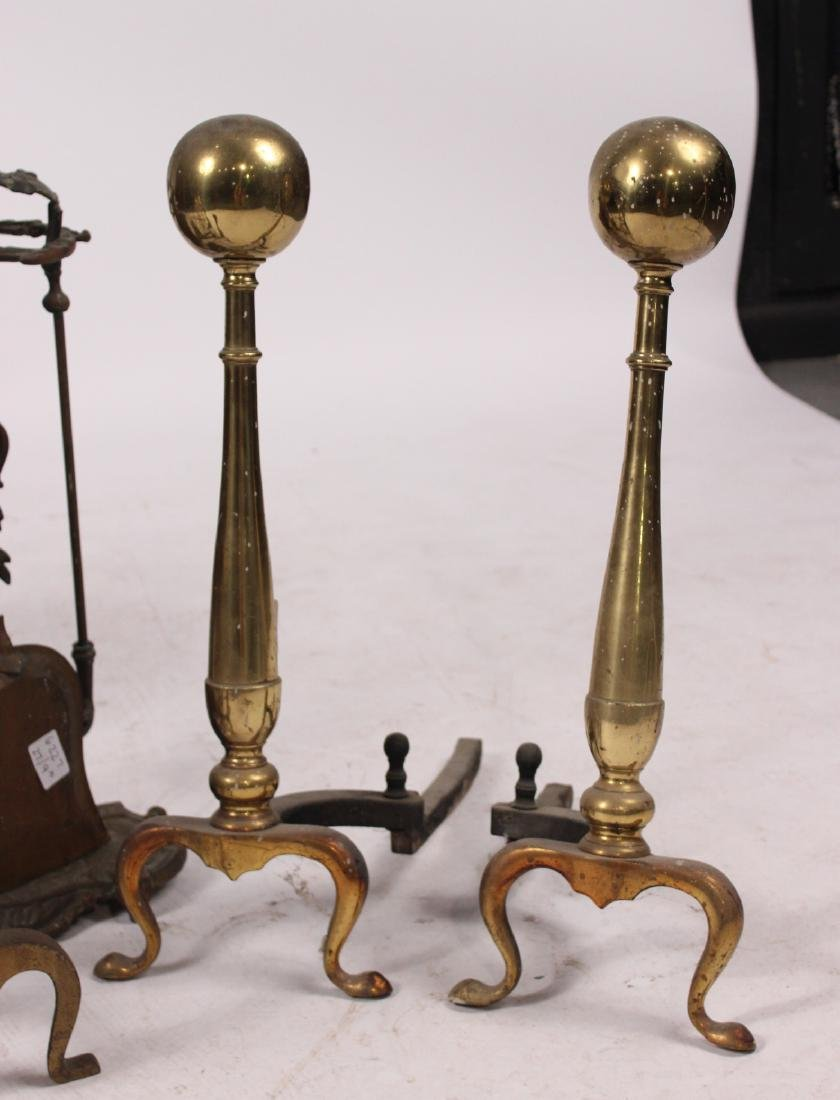 Group of Brass Fireplace Equipment - 3