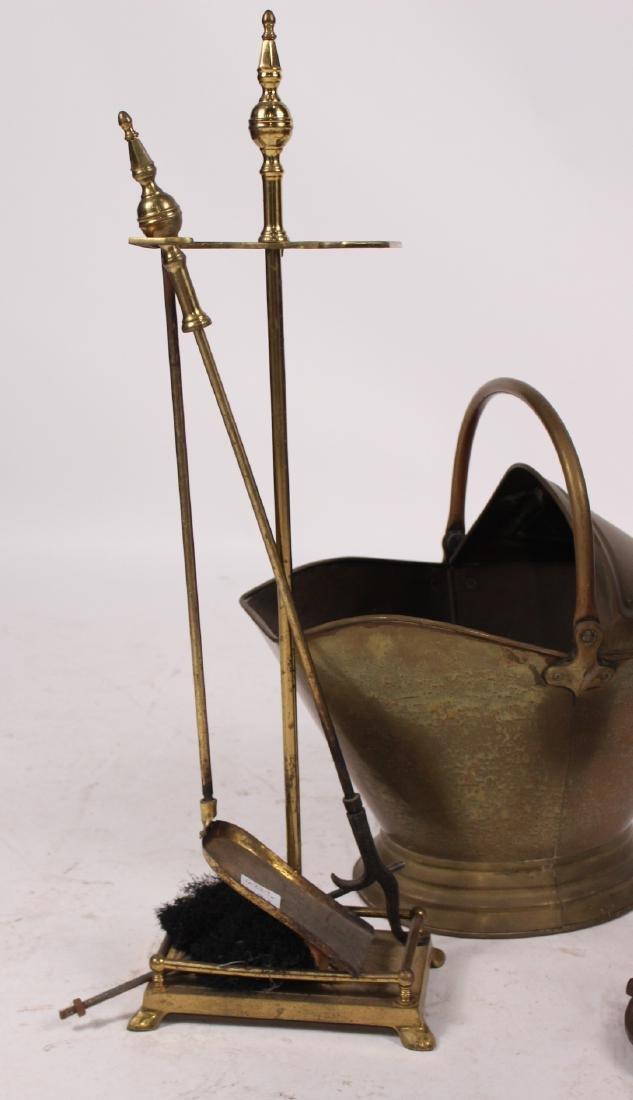 Group of Brass Fireplace Equipment - 6