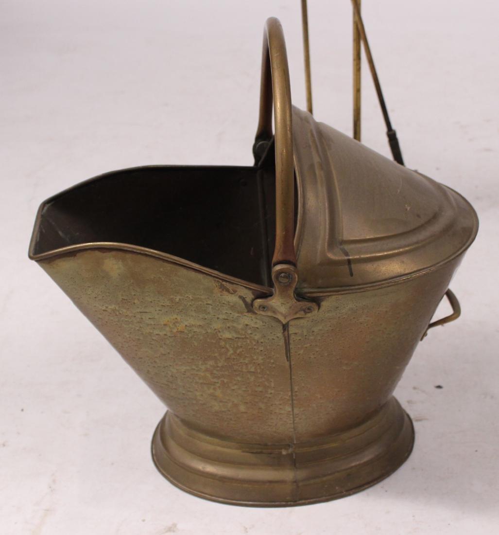 Group of Brass Fireplace Equipment - 7