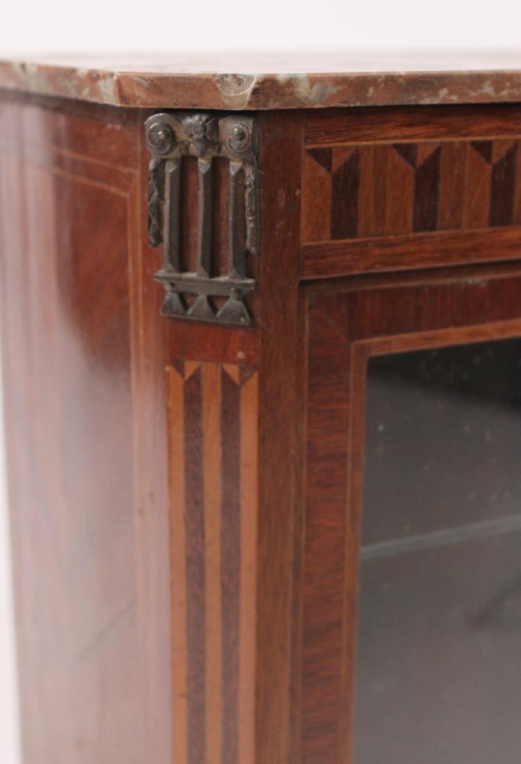 Louis XV Marble Top Inlaid Diminutive Vitrine - 3