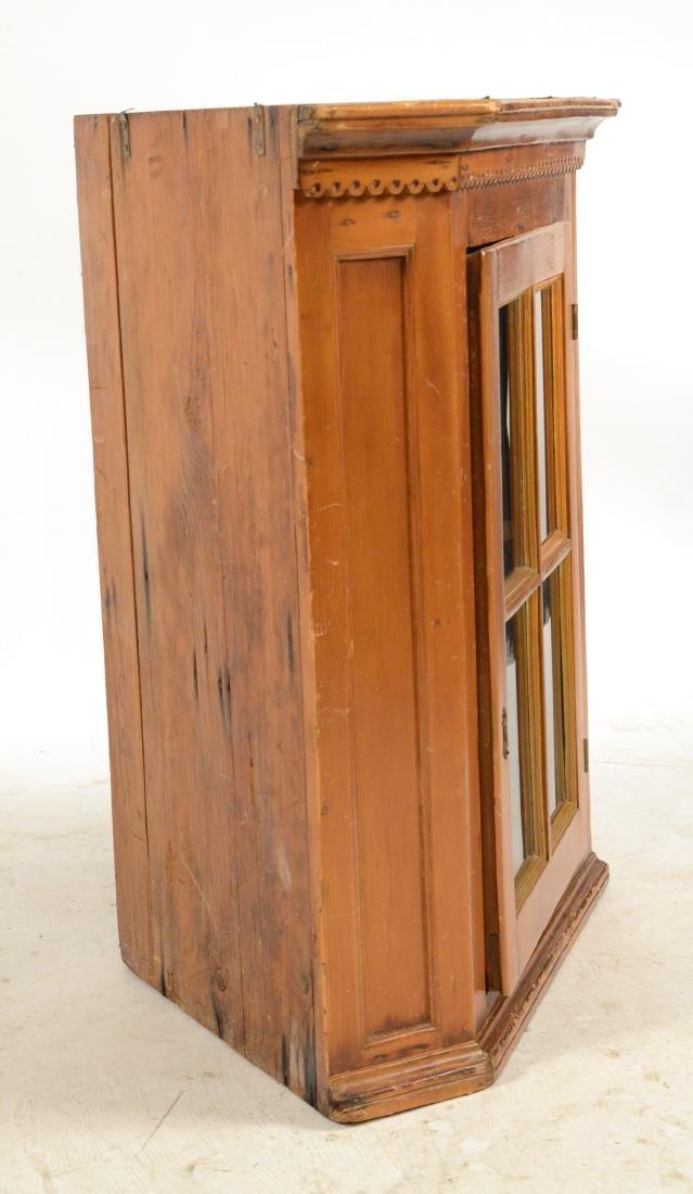 Pine Hanging Corner Cupboard - 10