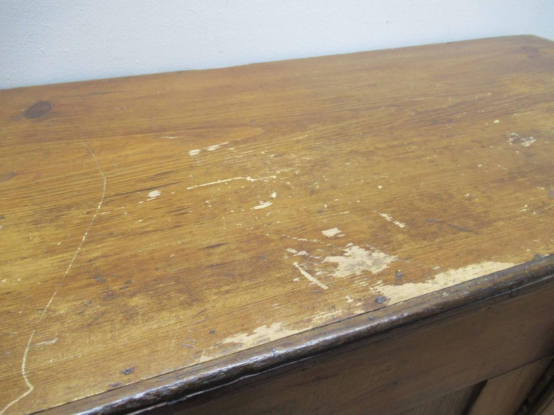 Antique Pine Storage Chest - 4