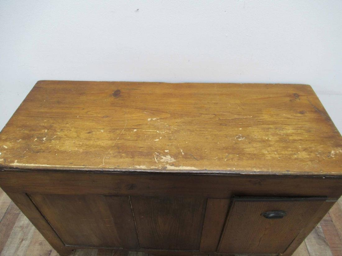 Antique Pine Storage Chest - 5