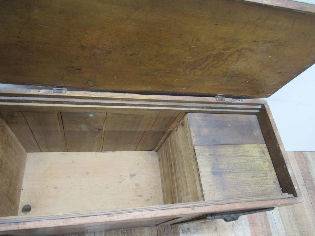 Antique Pine Storage Chest - 6