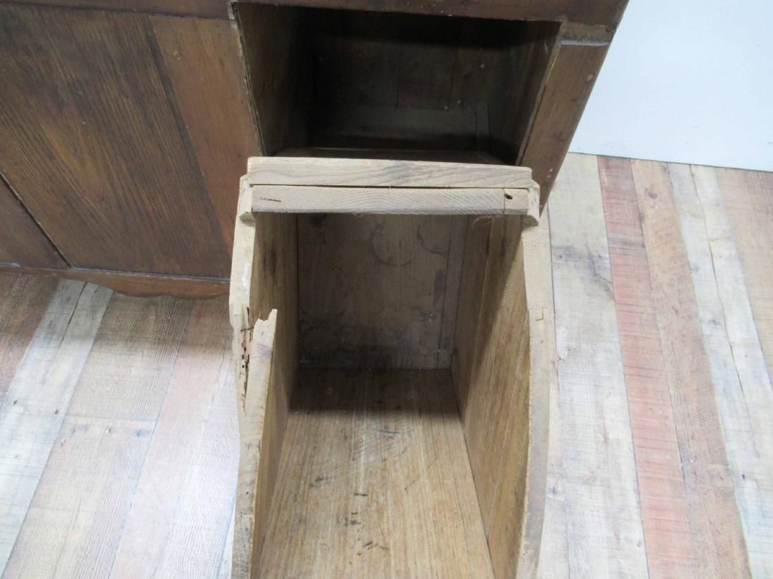 Antique Pine Storage Chest - 7