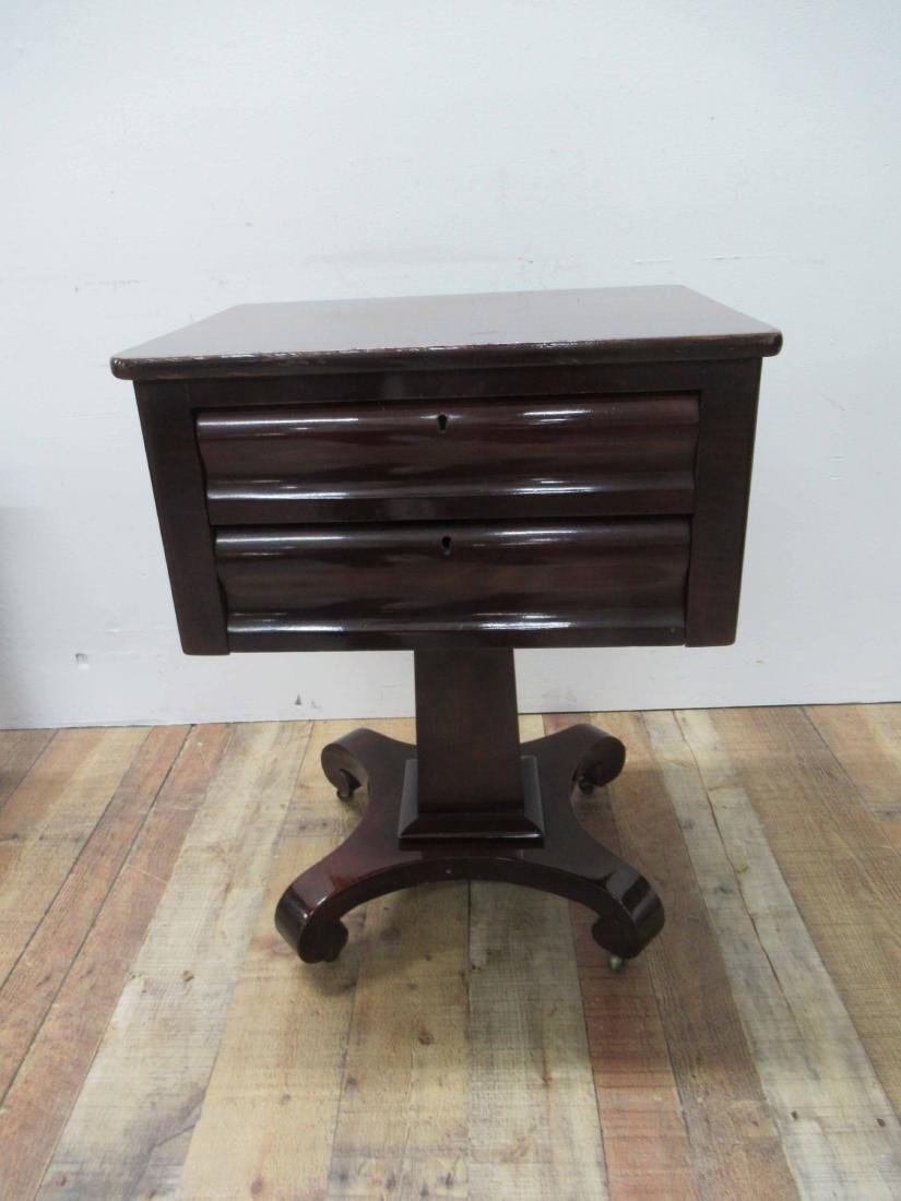 Empire Mahogany Two Drawer Sewing Stand