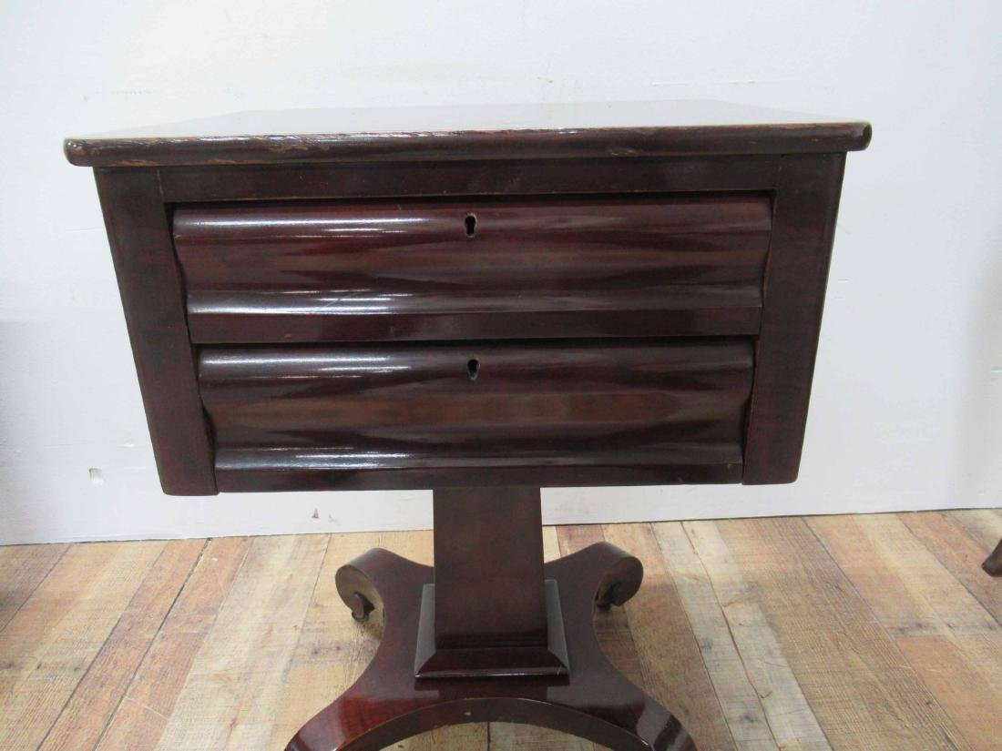 Empire Mahogany Two Drawer Sewing Stand - 2