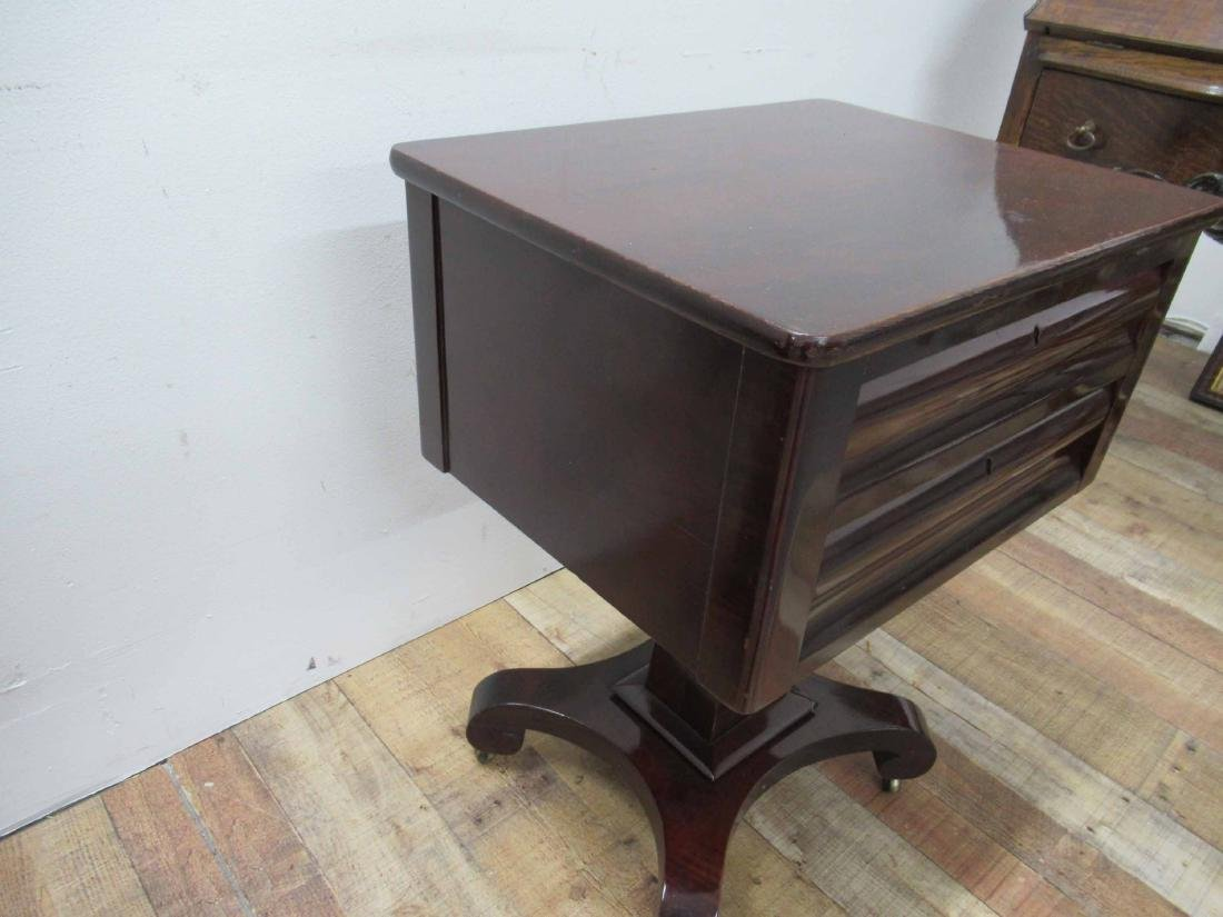 Empire Mahogany Two Drawer Sewing Stand - 4
