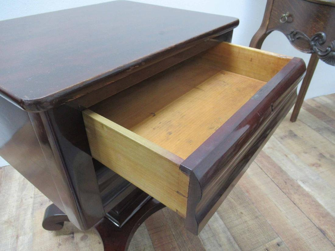 Empire Mahogany Two Drawer Sewing Stand - 7