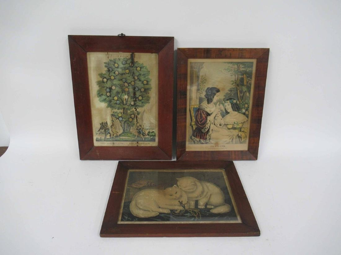 Two N. Currier Colored Prints