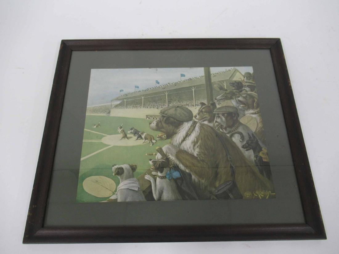 """C. M. Coolidge Print of One to tie, """"Two to Win."""""""